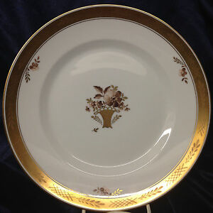 Image is loading ROYAL-COPENHAGEN-GOLDEN-BASKET-DINNER-PLATE-9-7- & ROYAL COPENHAGEN GOLDEN BASKET DINNER PLATE 9 7/8