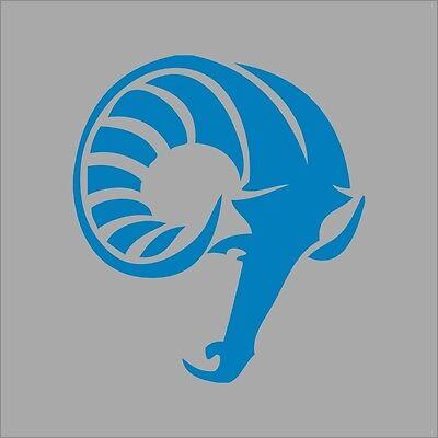 Fordham Rams #6 College Logo 1C Vinyl Decal Sticker Car Window Wall
