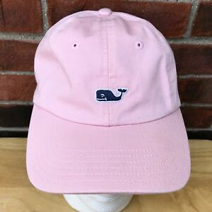 baabfdde716 Vineyard Vines Pink Cap Hat Whale Logo Embroidered Baseball Golf 100 ...