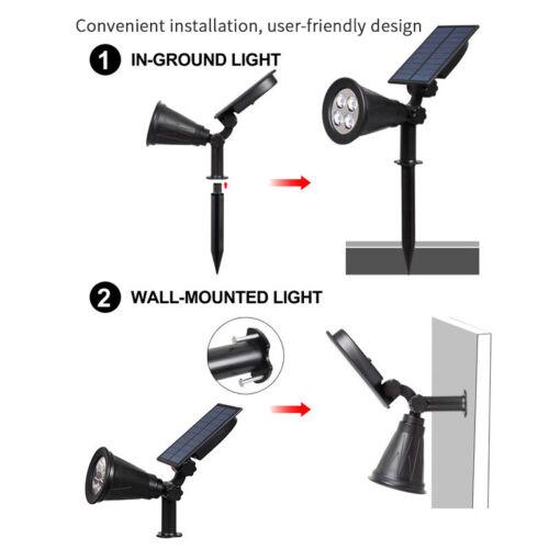 Solar Power RGB DEL Lumière Détecteur De Mouvement Extérieur Jardin Pelouse Chemin Lampe IP65