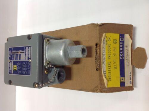 H3VZ4 104982 SQUARE D 1-75PSI PRESSURE SWITCH SER.B NIB ACW5S67