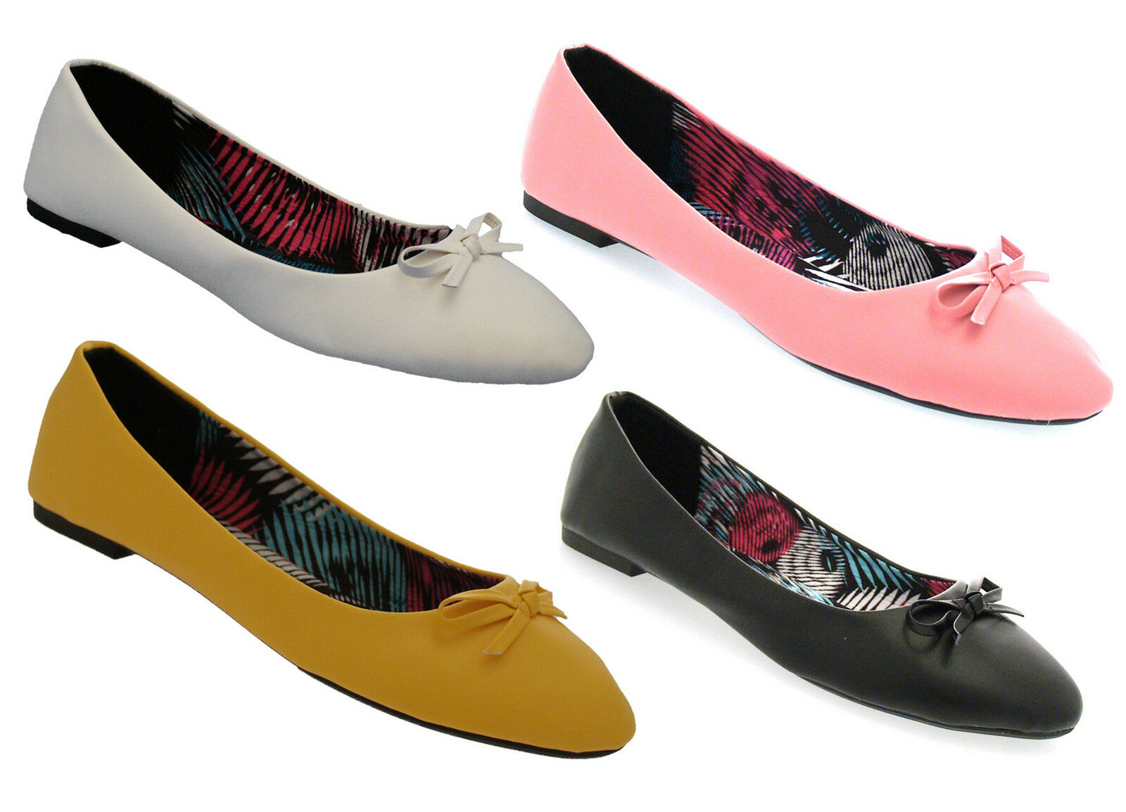 Ladies Girls with Ballerina Shoes Flats Pumps with Girls Bow cf1b79