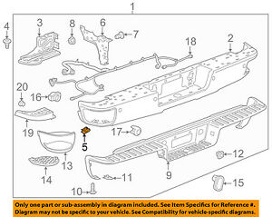 GM OEM Rear-Bumper Brace U-nut 22531616