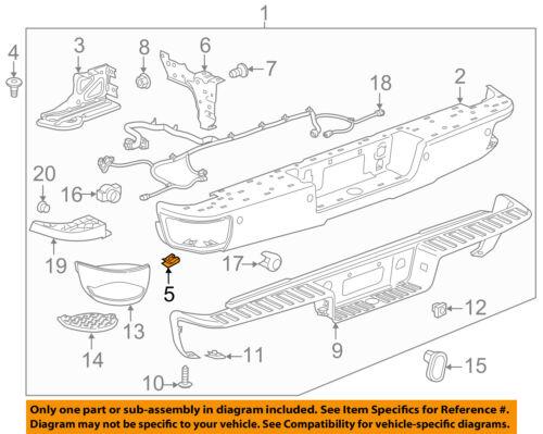 GM OEM Rear-Bumper Brace U-nut 22531616