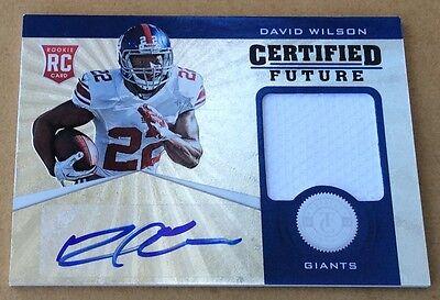 2012 Panini Football David Wilson Jersey & Autograph Card 113/175 | eBay