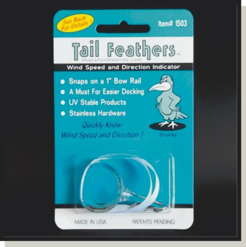 Apparent Wind Indicators Docking Aid Tail Feathers, thats for the birds