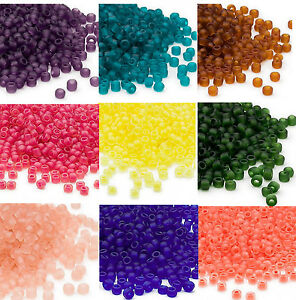 200 Rainbow Silver Lined Matsuno 6//0 Glass Seed Beads Spacer Beads