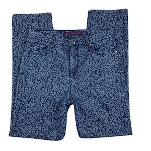 GLORIA-VANDERBILT-Women-8-Pants-Slacks-Jeans-Amanda-Straight-Leg-Pockets-Blue