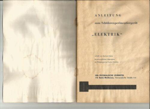 """als Bilddatei auf Datenträger """" SCOLI """"Anleitung Elektrik 11 154 SEG"""