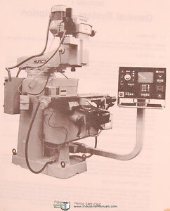 Details about Hurco SM1, Milling Machine, Operations Installation  Maintenance Manual 1985