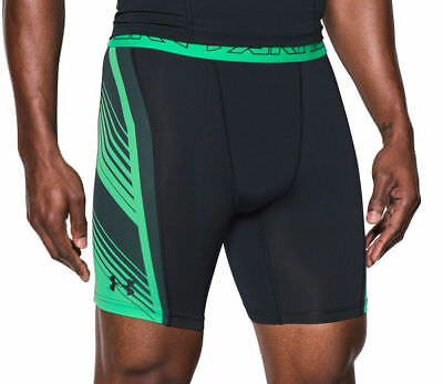 Under Armour Uomo Sport Eutettiche-short Ua Heatgear ® Supervent Nero Verde-hort Ua Heatgear® Supervent Schwarz Grün It-it Mostra Il Titolo Originale