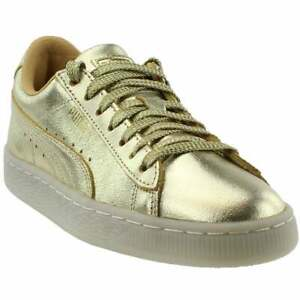 puma suede 50th gold junior sneakers casual  gold  girls