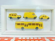 AU838-0,5# Wiking H0 Set PMS 1991 Post advertisement DBP: VW Beetle+MB Bus etc.