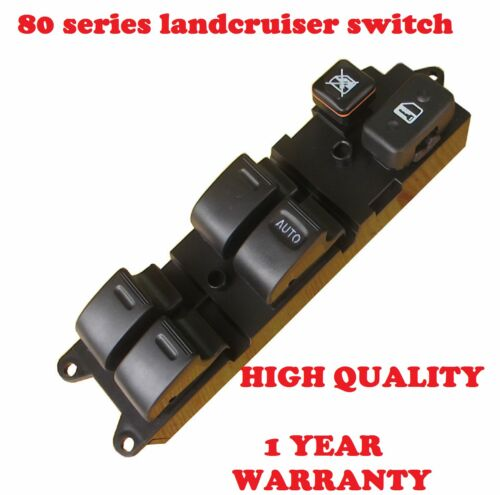 Main Window Switch /& 3 Single Switches for Toyota Landcruiser 80 Series SET OF 4