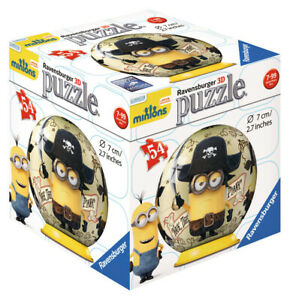 72001-V1-Ravensburger-Minions-Pirate-3D-Puzzle-54pc-Children-039-s-Jigsaw-Puzzle