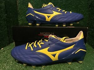 buy online 05e90 0587a Details about Mizuno Morelia Neo PS Prime Skin Soccer Football Cleats Shoes  size 9 + 9,5