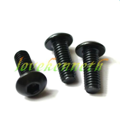 50pcs M2 Black 10.9 Alloy Steel Allen Button Round Head Hex Socket Screw Bolt