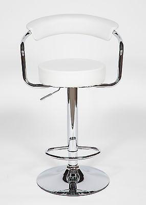 2 Modern Adjustable Counter Swivel Pub Style Bar Stools / Barstools White