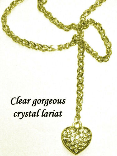 Clevage  Sexiest Lariat Heart French Rope Neck Chain Pick Your Metal Smokin