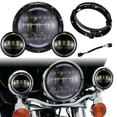 "Motorcycle 7/"" Headlight Mounting Ring For Harley Street Electra Glide Road King"