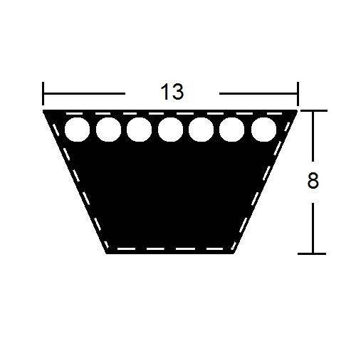 Keilriemen Profil A//13 x 2438