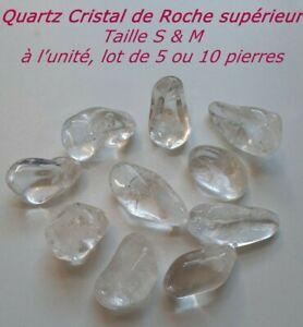 PIERRE-POLIE-QUARTZ-CRISTAL-DE-ROCHE-SUPERIEUR-LOT-1-5-10-TAILLE-S-ou-M