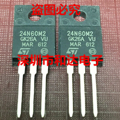 1 x 24N60M2 STF24N60M2 N-channel 600V 18A Power MOSFET F24N60M2 TO-220F