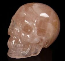 "2.0"" Rose Quartz Carved Crystal Skull, Super Realistic, Healing"