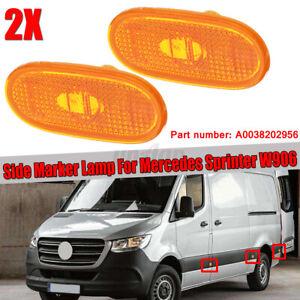 2 X FOR MERCEDES SPRINTER 906 SIDE MARKER LAMP LIGHT AMBER 0038202956