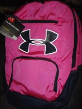 Under Armour UA Relentless Storm 1 Big Logo Pink Black Backpack 1284002-652 c4ad139a173a4