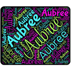 personalized mouse pad name all over word mousepad round or