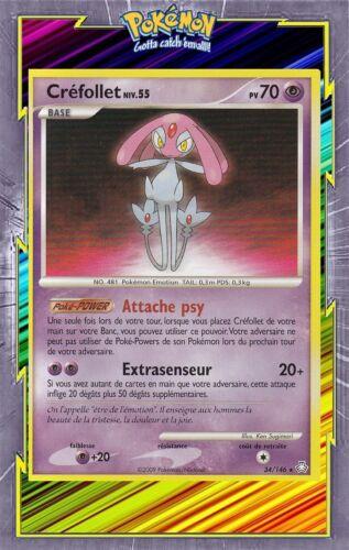 34//146 Créfollet DP6:Eveil des Legendes Carte Pokemon Neuve Française