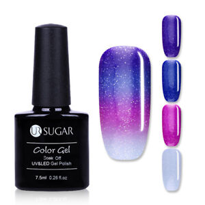 7-5ml-Soak-Off-UV-Gel-Polish-Nail-Art-Glitter-Color-changing-Varnish-UR-SUGAR