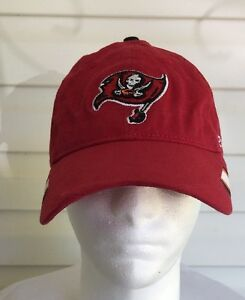 dc32302b155 NFL Tampa Bay Buccaneers Baseball Cap Hat Red Flag Logo Reebok ...
