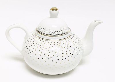 GRACE TEA WARE WHITE VICTORIAN PORCELAIN LARGE COFFEE POT,TEAPOT-5 CUPS 40 OZ.
