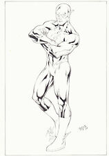 Flash Full Figure Commission - 2009 Signed art by Ed Benes