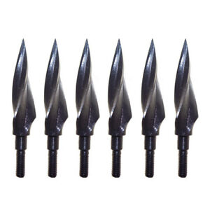 150-Grain-Archery-Arrowheads-Broadheads-Hunting-Tips-Screw-Arrow-Points-Steel