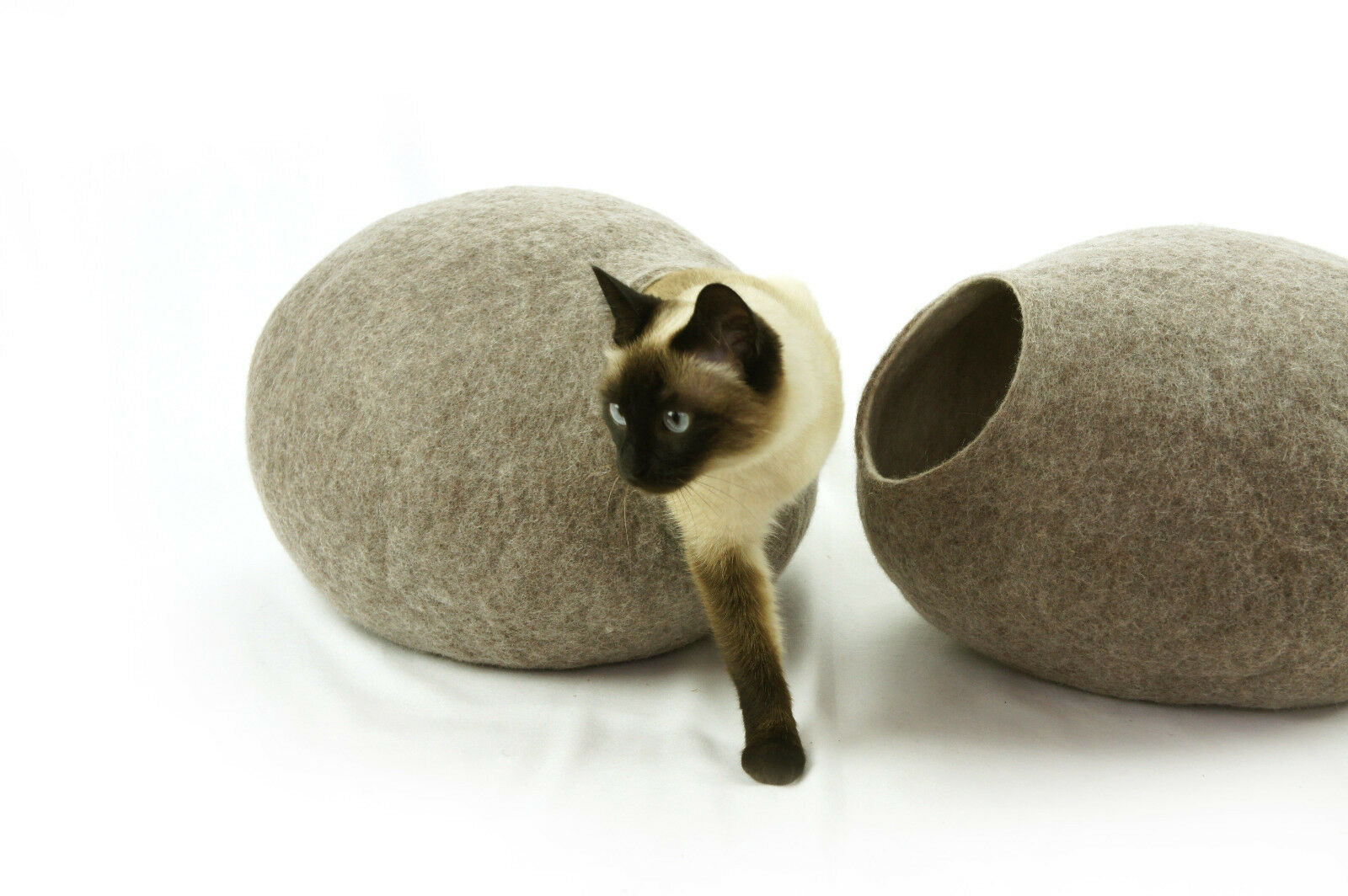 Cat Bed, House, Cave, Nap Cocoon, Igloo, 100% Handmade from from from sheep wool 11beb9