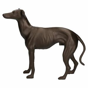 Grey-Hound-Whippet-Dog-Cast-Iron-Statue-Figure-Trophy-Ornament-Sculpture