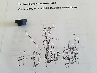 VOLVO B21 / B23 Eng.242,244 TIMING COVER GROMMET& Volvo Penta AQ140 AQ125  AQ120B | eBay | Volvo B23 Engine Diagram |  | eBay