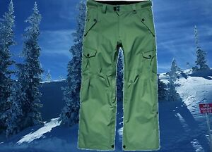 686-Mens-XL-38-40-Olive-Cargo-Shell-Snowboard-Ski-Snow-Pants-Waterproof-Nwt-235