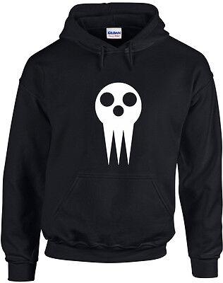 Skull Shield, Soul Eater, Anime Inspired Printed Hoodie