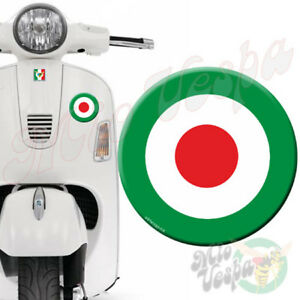 Round Green Target 3D Decal sticker for Vespa GTS GTV GT 125 250 300 50 ET PX LX