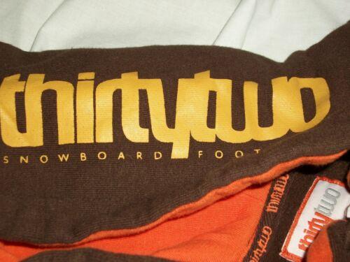 Thirty-Two Snowboard Men's Sweatshirt Brown Size S
