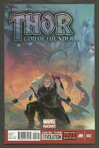 Thor God of Thunder #2 (2013) 1st App Gorr The GodButcher & All-Black Necrosword