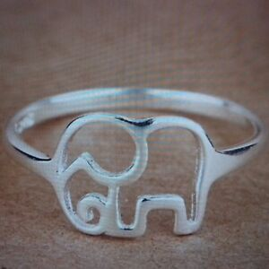 Sterling Silver Brand New ! 925 In Short Supply Adjustable Elephant Toe Ring !