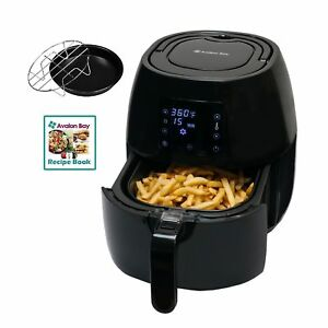 Avalon Bay Digital Display Stainless Steel Healthy Air Fryer Kitchen Appliance