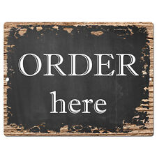 PP0354 Rust ORDER here Plate Sign Bar Store Shop Pub Cafe Home Interior Decor