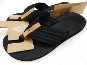 204fdd4366b Image is loading REEF-WOMENS-SANDALS-CUSHION-THREADS-BLACK-SIZE-9