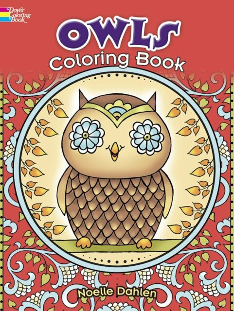 owls relax dover coloring book books adult kids nature grownups artistic stress - Dover Coloring Books For Adults